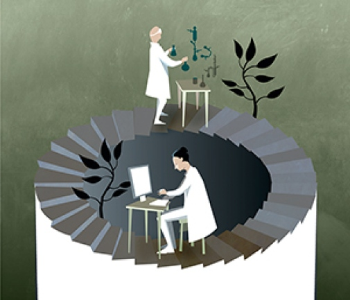 Nobel Prize in Chemistry 2013. Illustration: © Johan Jarnestad/The Royal Swedish Academy of Sciences