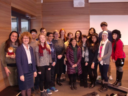 Visit from international students