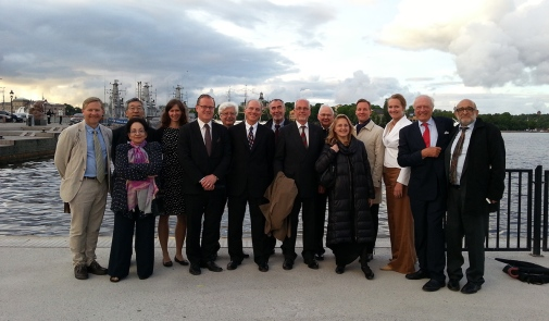 The members of the jury, together with the members of the foundation, 2013. Photo: Susanna Lindberg