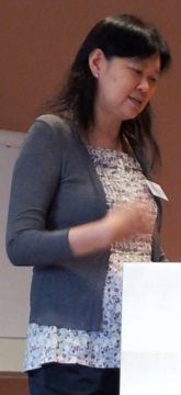 Brenda S.A. Yeoh delivering her keynote lecture, March 6.