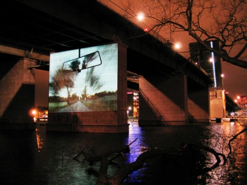 ©Stefan Otto: Fast forward/Fast rewind 2002, video. Still from a student exhibition in Stockholm 2007 by Anneli Bäckman and Alexander Benz. Photo: A Benz. By courtesy of the artist.
