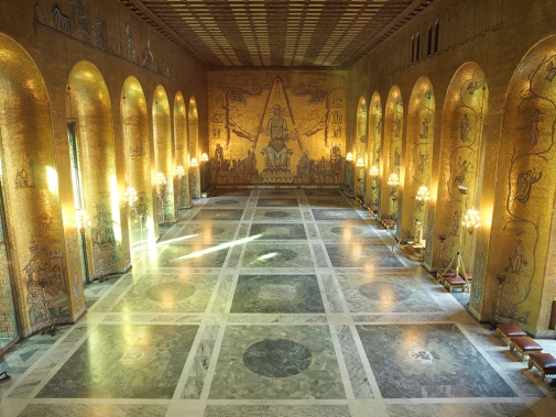 The Golden Hall in Stockholm City Hall. Photo by Yanan Li.