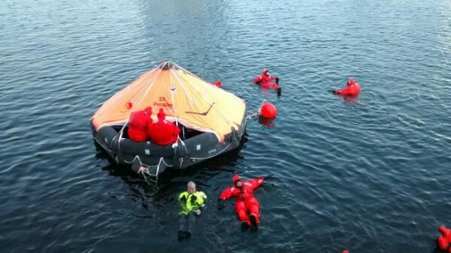 Safety round-up and training before the expedition this summer. Photo: Ian Brooks.