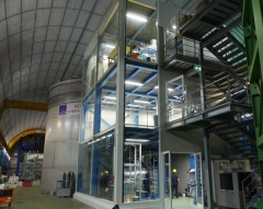 The building of the XENON 1T experiment in Italy.