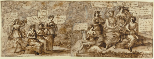 Claude Lorrain, Apollo and the Muses, 1674. The J. Paul Getty Museum, Los Angeles. Digital image courtesy of the Gettys Open Content Program.