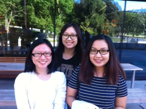 Three students from City University of Hong Kong; Tammie, Natalie and Po Yi.