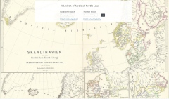 Map of Medieval Scandinavia from dhi.ac.uk/lmnl/